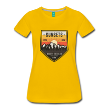 Load image into Gallery viewer, Women's Sunset T-Shirt - sun yellow