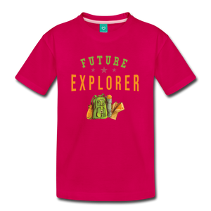 Kids' Future Explorer T-Shirt - dark pink