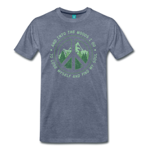 Load image into Gallery viewer, Men's Into the Woods I Go T-Shirt - heather blue