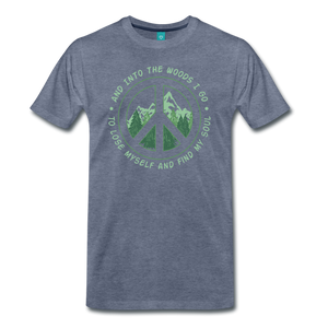 Men's Into the Woods I Go T-Shirt - heather blue