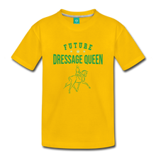 Load image into Gallery viewer, Toddler Future Dressage Queen T-Shirt - sun yellow