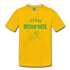 Toddler Future Dressage Queen T-Shirt - sun yellow