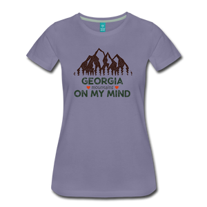 Women's Georgia on my Mind T-Shirt - washed violet