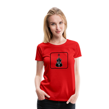 Load image into Gallery viewer, Women's Upright Bass  Icon T-Shirt - red