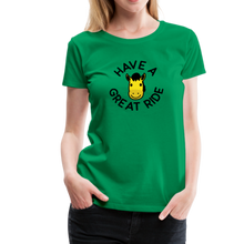 Load image into Gallery viewer, Women's Have a Great Ride T-Shirt - kelly green