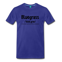 Load image into Gallery viewer, Men's Bluegrass Definition T-Shirt - royal blue