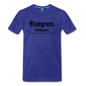 Men's Bluegrass Definition T-Shirt - royal blue