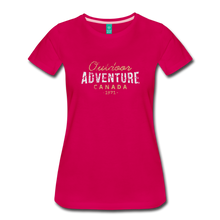 Load image into Gallery viewer, Women's Outdoor Adventure Canada T-Shirt - dark pink