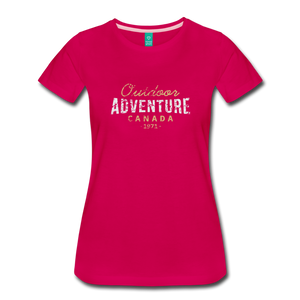 Women's Outdoor Adventure Canada T-Shirt - dark pink