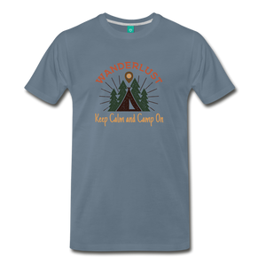 Men's Keep Calm, Camp On - steel blue