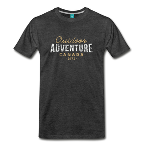 Men's Outdoor Adventure Canada T-Shirt - charcoal gray