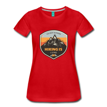 Load image into Gallery viewer, Women's Hiking T-Shirt - red