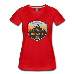Women's Hiking T-Shirt - red