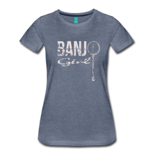 Load image into Gallery viewer, Women's Banjo Girl T-Shirt - heather blue