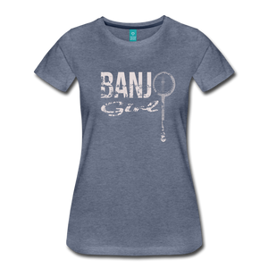 Women's Banjo Girl T-Shirt - heather blue