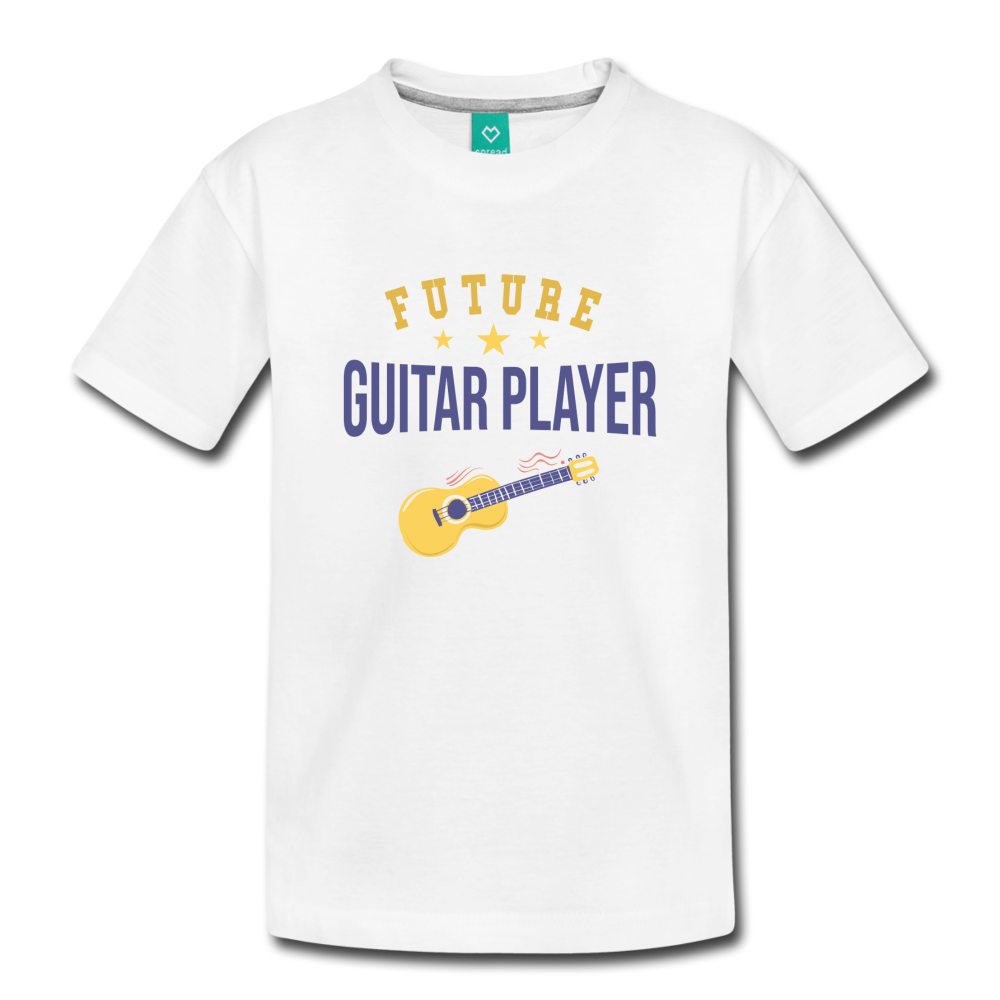 Toddler Guitar Player T-Shirt - white