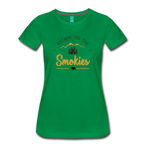 Women's Escape to the Smokies T-Shirt - kelly green