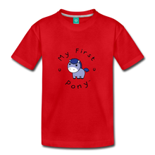 Load image into Gallery viewer, Toddler My First Pony T-Shirt (blue patch) - red