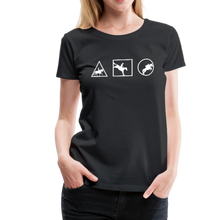 Load image into Gallery viewer, Women's Horse Symbols (solid) T-Shirt - black