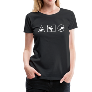 Women's Horse Symbols (solid) T-Shirt - black