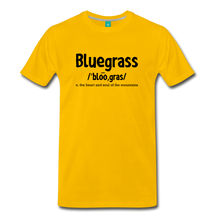 Load image into Gallery viewer, Men's Bluegrass Definition T-Shirt - sun yellow