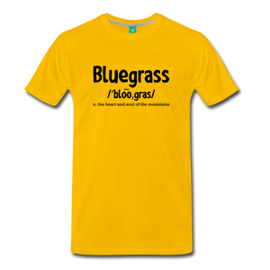 Men's Bluegrass Definition T-Shirt - sun yellow