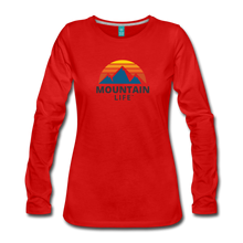 Load image into Gallery viewer, Women's Mountain Life Long Sleeve - red