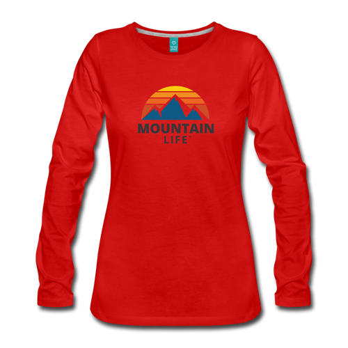 Women's Mountain Life Long Sleeve - red