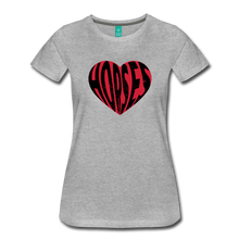 Load image into Gallery viewer, Women's Big Heart Horse T-Shirt - heather gray