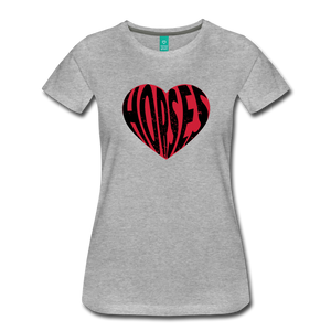 Women's Big Heart Horse T-Shirt - heather gray