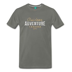 Men's Outdoor Adventure Canada T-Shirt - asphalt