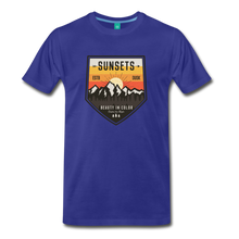 Load image into Gallery viewer, Men's Sunset T-Shirt - royal blue