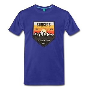 Men's Sunset T-Shirt - royal blue