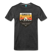 Load image into Gallery viewer, Men's Sunset T-Shirt - charcoal gray