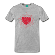 Load image into Gallery viewer, Men's Sunburst Heart Banjo T-Shirt - heather gray