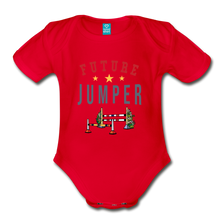 Load image into Gallery viewer, Future Jumper Baby Bodysuit - red