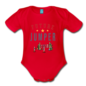 Future Jumper Baby Bodysuit - red