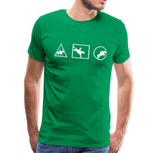 Load image into Gallery viewer, Men's Horse Symbols (solid) T-Shirt - kelly green