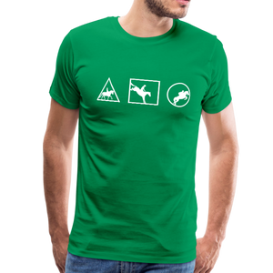 Men's Horse Symbols (solid) T-Shirt - kelly green