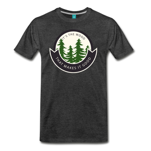 Men's Its the Wood T-Shirt - charcoal gray