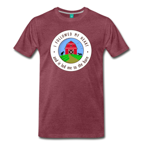 Men's Followed my Heart (colored) T-Shirt - heather burgundy
