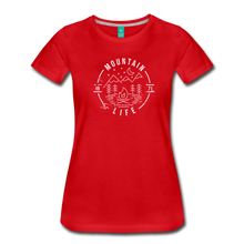 Load image into Gallery viewer, Women's Distressed Mountain Life T-Shirt - red