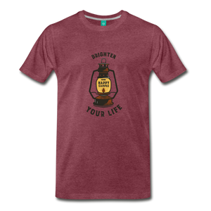 Men's Lantern T-Shirt - heather burgundy
