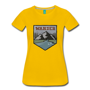 Women's Wander T-Shirt - sun yellow