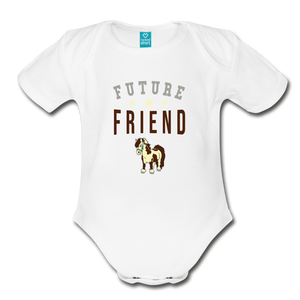 Future Friend Baby Bodysuit - white