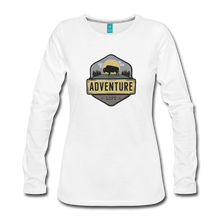 Load image into Gallery viewer, Women's Adventure Life Long Sleeve Shirt - white