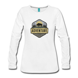 Women's Adventure Life Long Sleeve Shirt - white