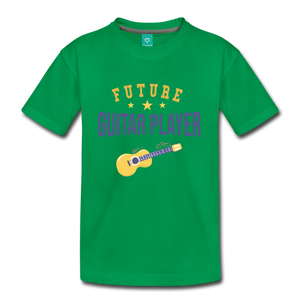 Kids' Guitar Player T-Shirt - kelly green
