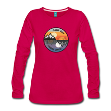 Load image into Gallery viewer, Women's Camp Day Long Sleeve Shirt - dark pink