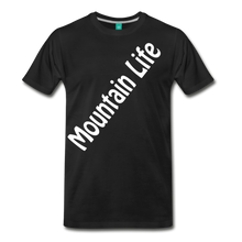 Load image into Gallery viewer, Men's Diagonal Mountain Life T-Shirt - black